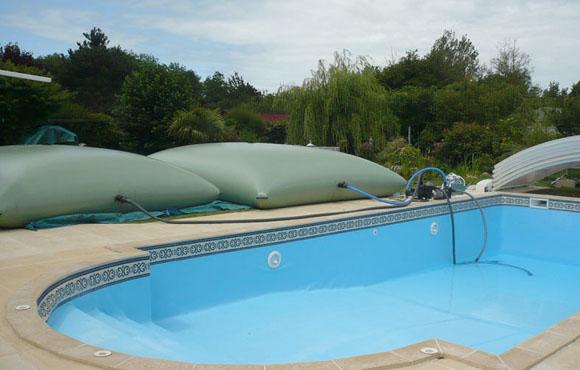 Remplissage piscine avec Citerne Souple Eau