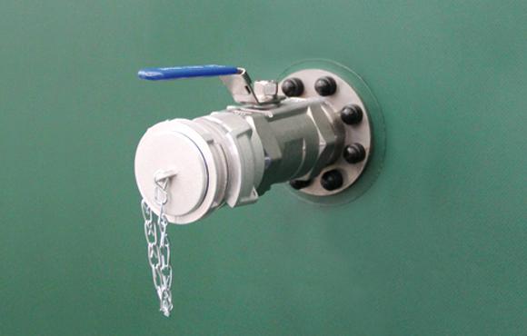 robinet sur citerne souple d'engrais liquide
