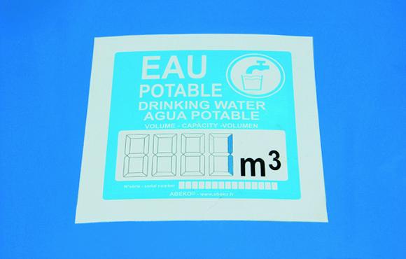 Étiquette citerne eau potable